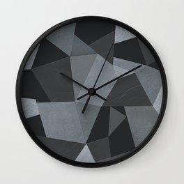 Black and grey worn . Leather patches . Wall Clock