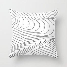 Topographic #440 Throw Pillow