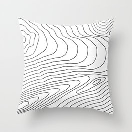 Topographic Line Pattern #440 Throw Pillow