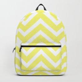 Chevron Stripes : Yellow & White Backpack