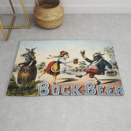 Vintage poster - Bock Beer Rug