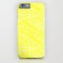 Sketchy Abstract (White & Yellow Pattern) iPhone Case