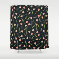 tulips Shower Curtains featuring Tulips by Heart of Hearts Designs