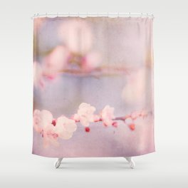 Pink Pastel Flower Blossoms Shower Curtain