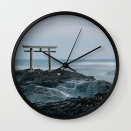 Ocean Shrine Wall Clock
