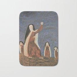 St. Teresa Shakes Her Fist At God Bath Mat