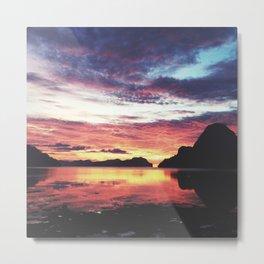 El Nido Sunset Metal Print