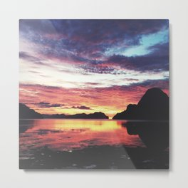 El Nido Sunset Metal Print