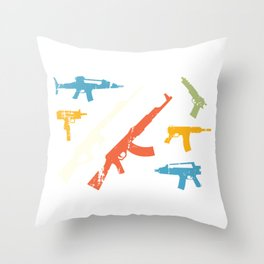 Automatic Rifles Throw Pillow