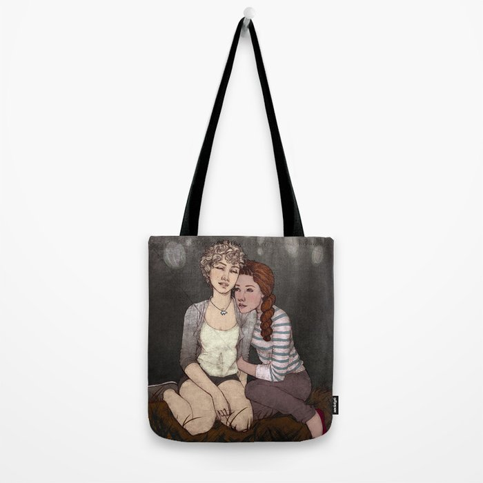 Red & White Tote Bag