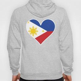 Filipino Flag Heart Hoody