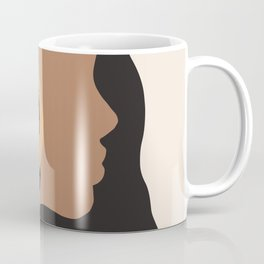 Lovely girl - Muted palette - Modern abstract hand drawn art Coffee Mug
