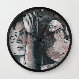 Beneath Broken Earth: Red Wine Wall Clock