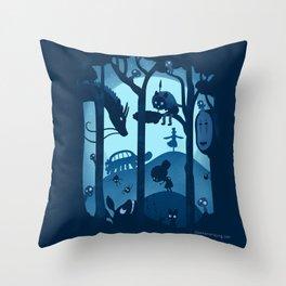Magical Gathering Throw Pillow