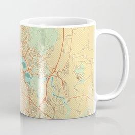 Canberra Map Retro Coffee Mug