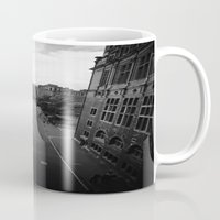 edinburgh Mugs featuring Edinburgh by Jane Lacey Smith