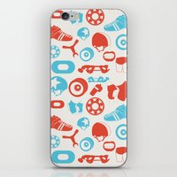 roller derby iPhone & iPod Skins featuring Roller Derby by RhiannonHeeley