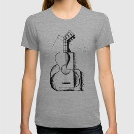 The Guitar, Cubist Juan Gris 1912 T Shirt, Art Reproduction T-shirt
