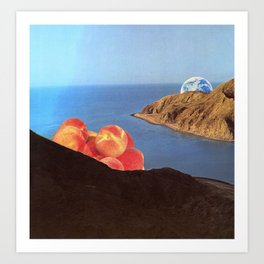 Earth and Peaches Resting Art Print