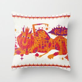 I Wish You Peace Throw Pillow