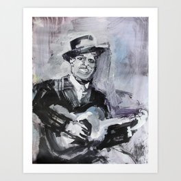 Big Bill Broonzy Old Blues Musician Art Print
