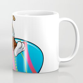 cowboy bunny riding a easter egg Coffee Mug