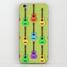 Fun colorful Ukuele Pattern iPhone Skin