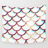 koi fish Wall Tapestries featuring Koi Fish by JoanaRosaC