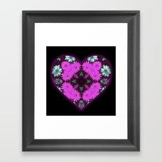 Purple Love Framed Art Print