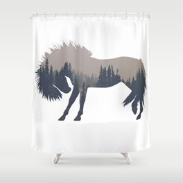 Woodland Horse Shower Curtain