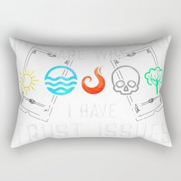 Trust Issues Untapped Lands - Funny Magic Geek TCG T-Shirt T-Shirt Rectangular Pillow