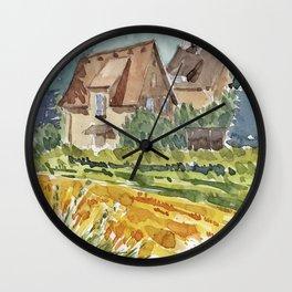 Häuser am Feld Wall Clock