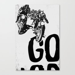 The Horde Motorcycle Art Print Canvas Print