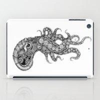 clockwork iPad Cases featuring clockwork octopus by vasodelirium