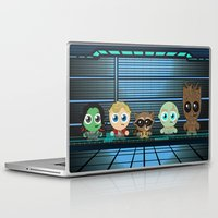 guardians of the galaxy Laptop & iPad Skins featuring GUARDIANS OF THE GALAXY by Chris Thompson, ThompsonArts.com