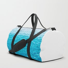 Orca Whale gliding through the water on a rainy day Duffle Bag