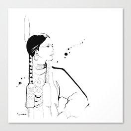 Ethnic Beauty - USA Canvas Print