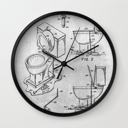 Toilet seat lifter Wall Clock