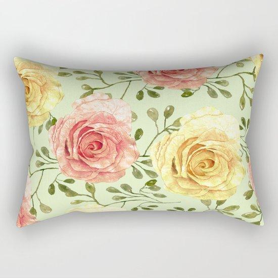 Watercolor Roses #6 Rectangular Pillow