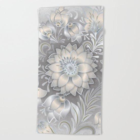 Shabby flowers #2 Beach Towel