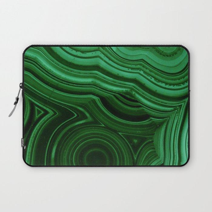 GREEN MALACHITE STONE PATTERN Laptop Sleeve