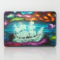spaceship iPad Cases featuring Spaceship by Kaila Hernandez