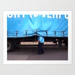 Man & Van Art Print