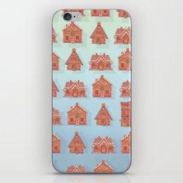 Gingerbread house pattern (V2) iPhone Skin