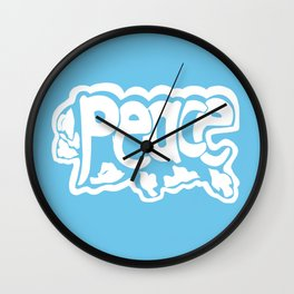 Peace with Doves Wall Clock