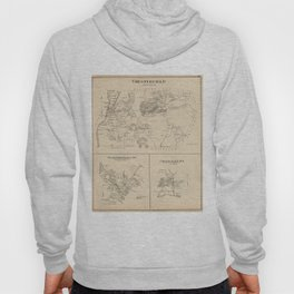 Vintage Map of Spofford and Chesterfield NH (1892) Hoody