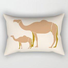 Camel Mother #draw #society6 #animal Rectangular Pillow