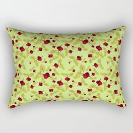 Celery Beauty and the Beets Rectangular Pillow