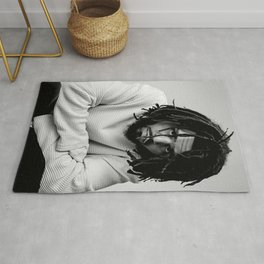 J Cole Poster Rug