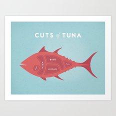Tuna Cuts Poster Art Print